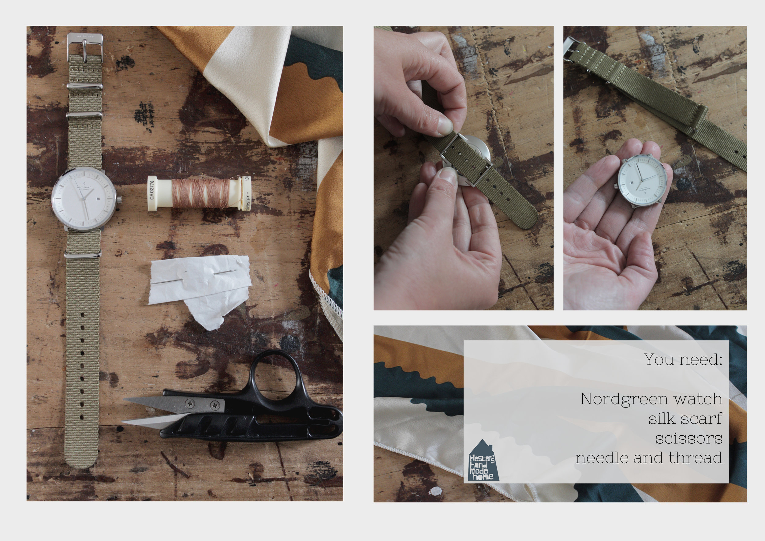 Nordgreen watch strap hack by Hesters Handmade Home