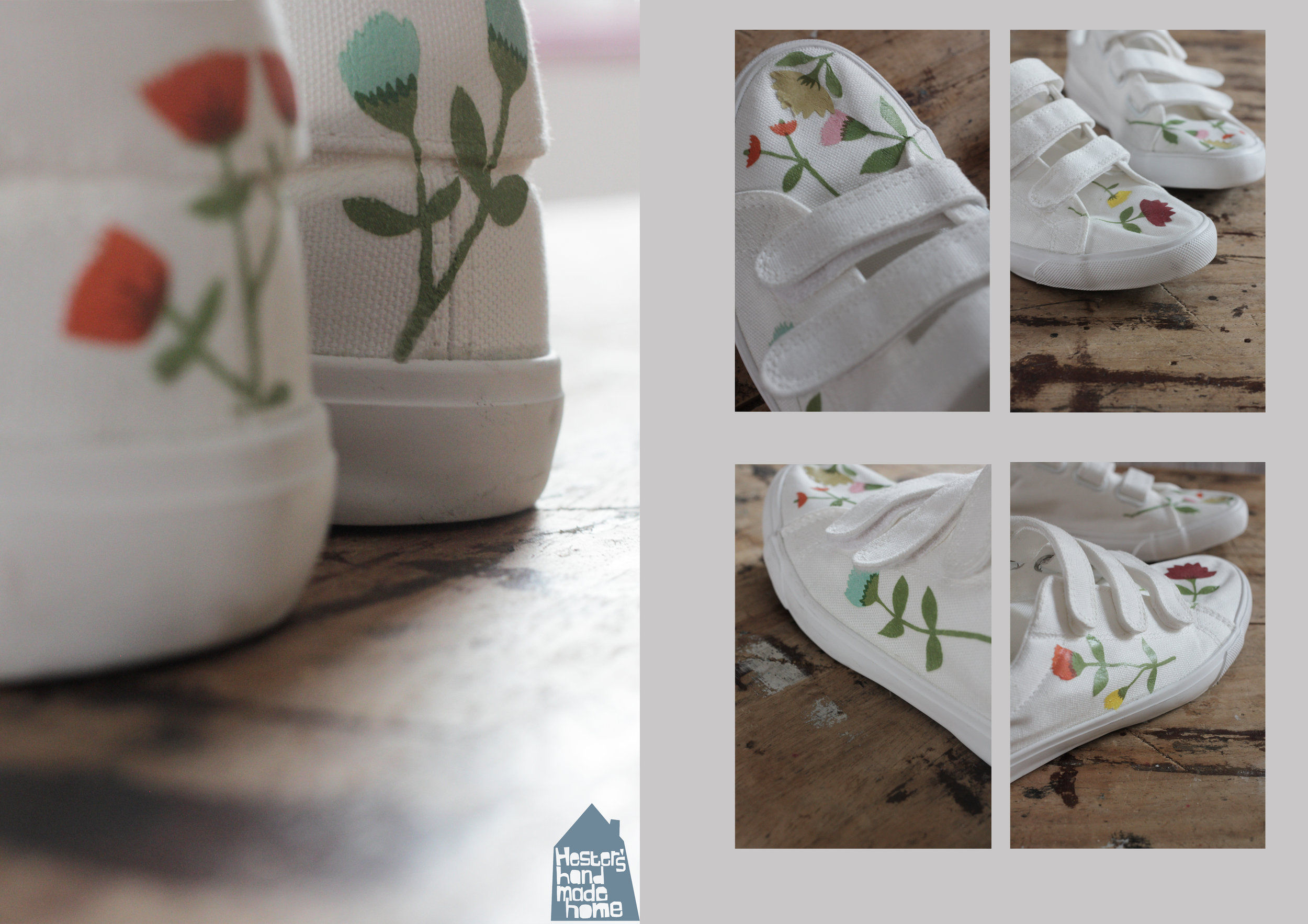 Decorate your shoes with decals by www.hestershandmadehome.com