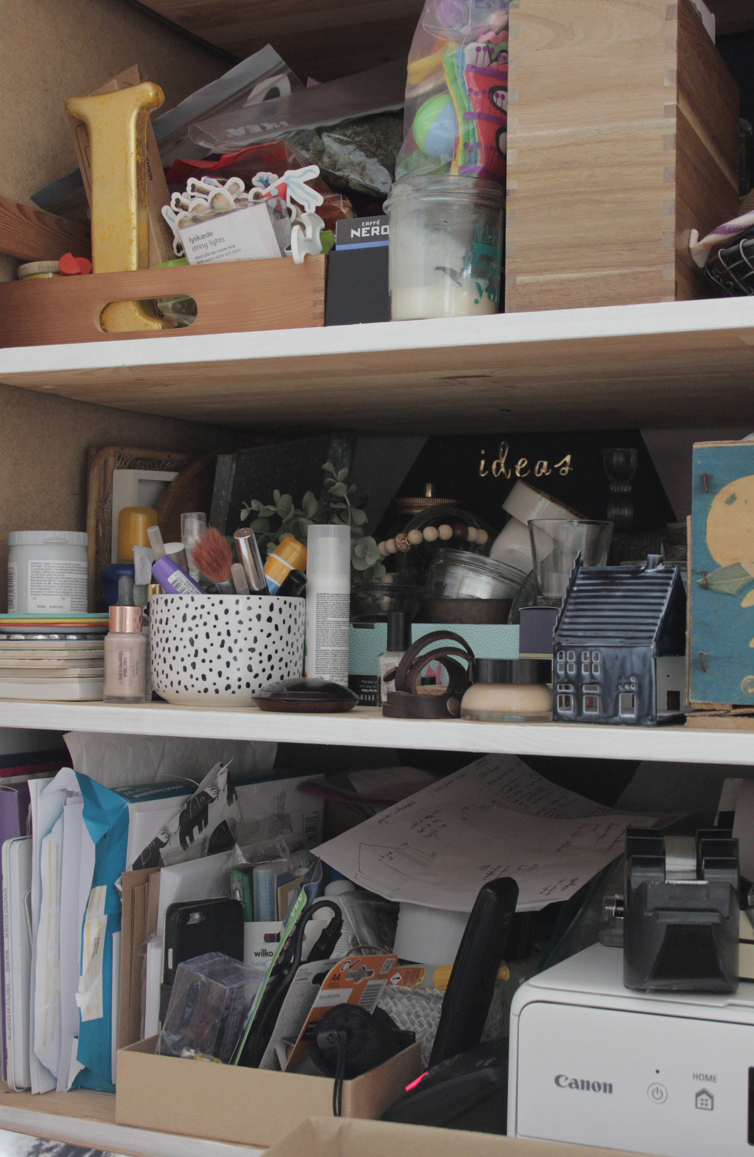 This cupboard needs a tidy!!