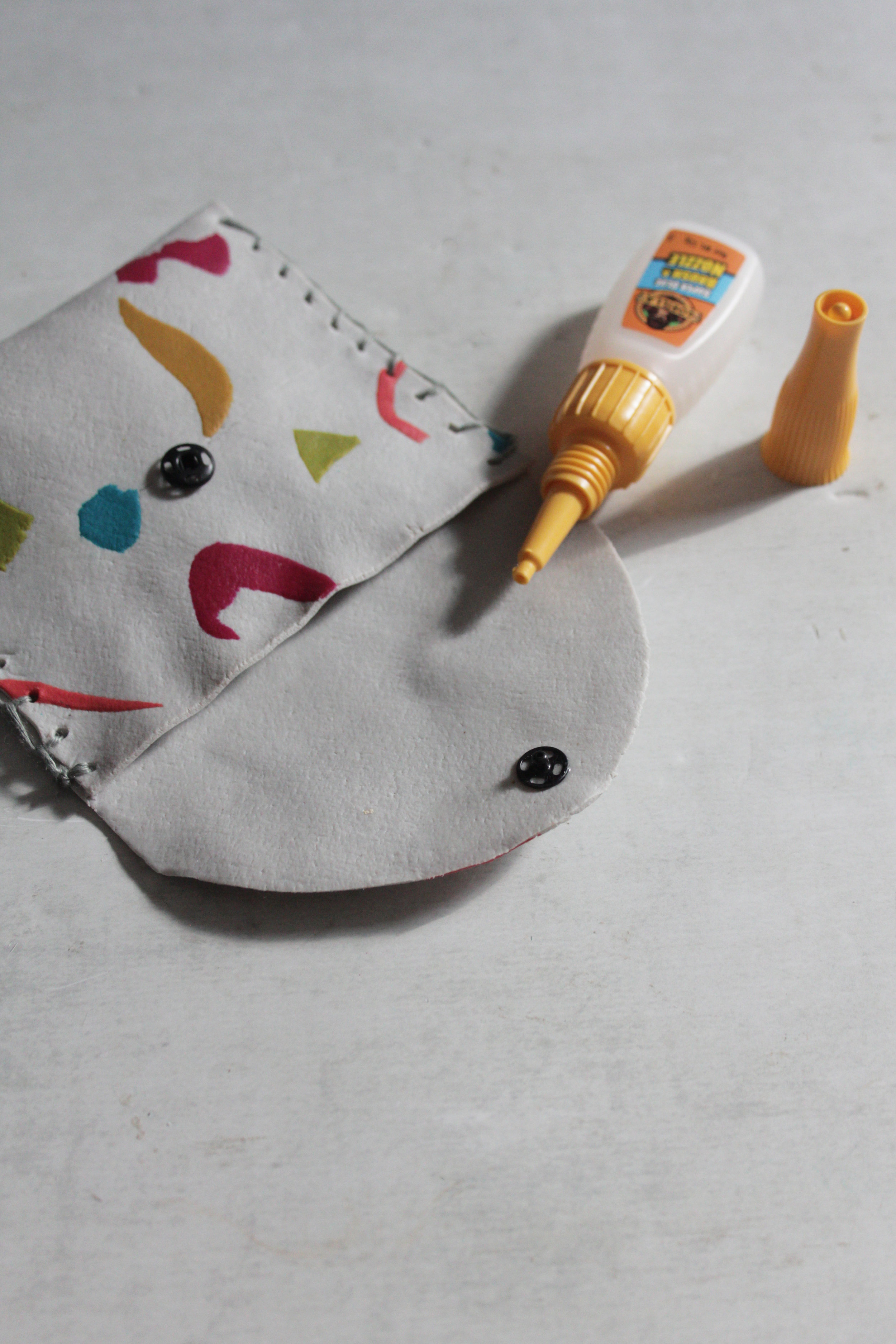 FIMO leather effect coin pouch by Hester Handmade Home step 15