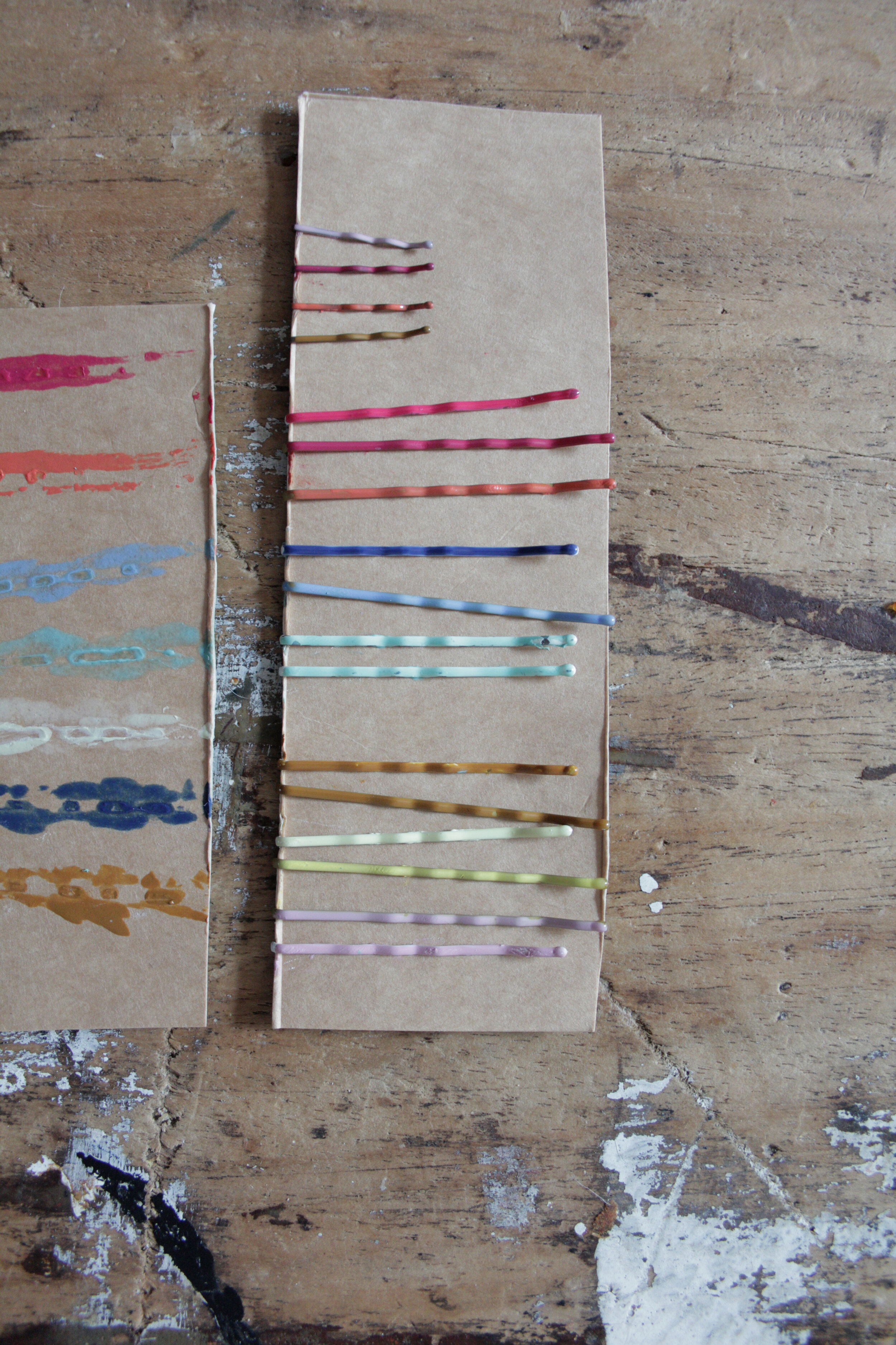Coloured hair grips tutorial by www.hestershandmadehome.com