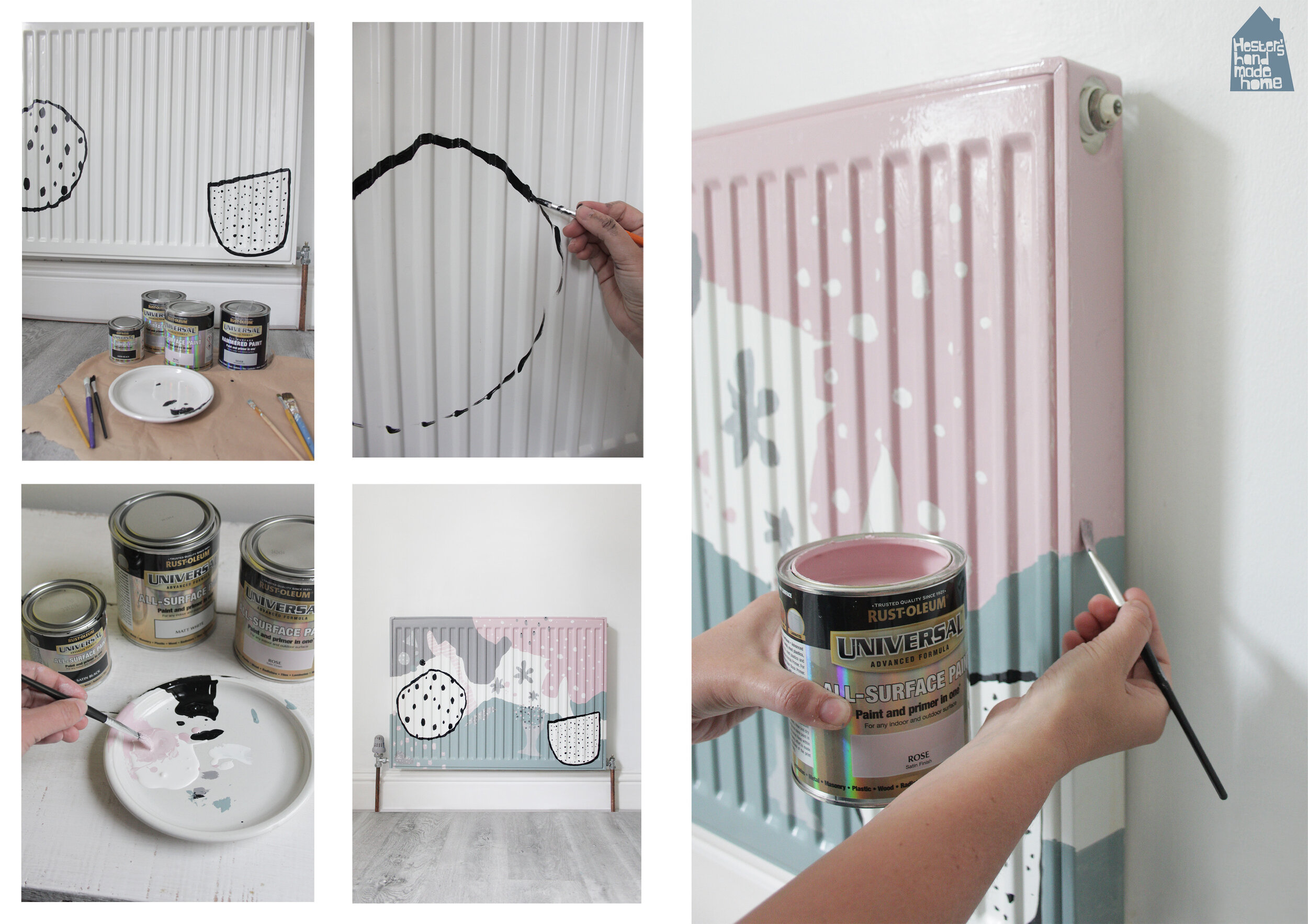 Painted radiator by Hester's Handmade Home for RustOleum