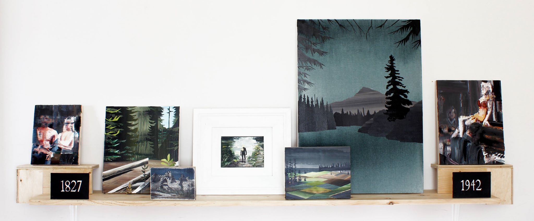 Gavin Lynch, The Pass (1794-present) (2014-15),mixed-media painting installation comprised of oil and acrylic paintings on canvas and woodpanel