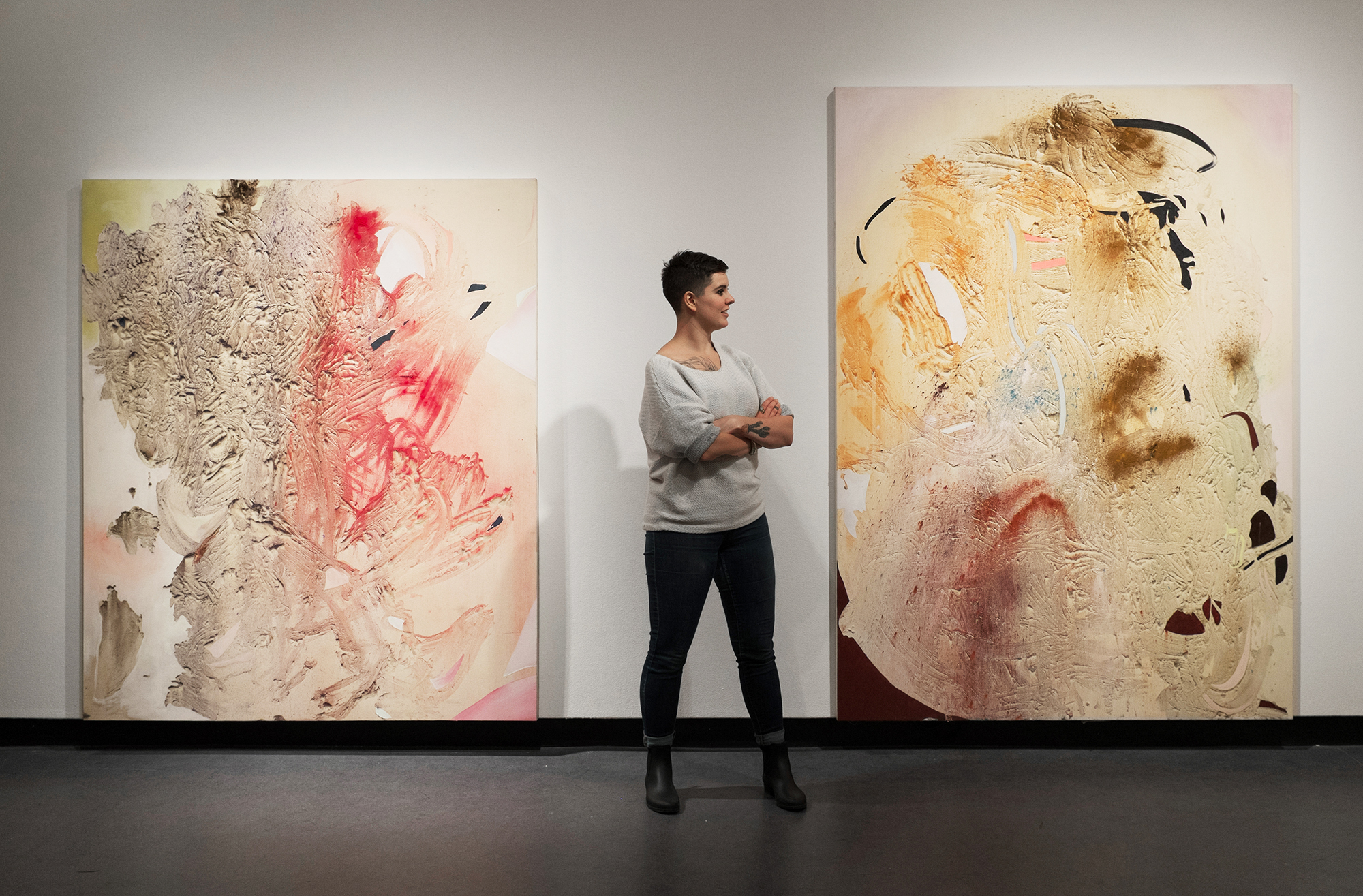 Gillian King at her MFA thesis exhibition  Becoming Animal , presented at the Ottawa Art Gallery, 2016