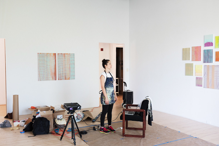 Darcie Kennedy installs her thesis work at AxeNÉ07