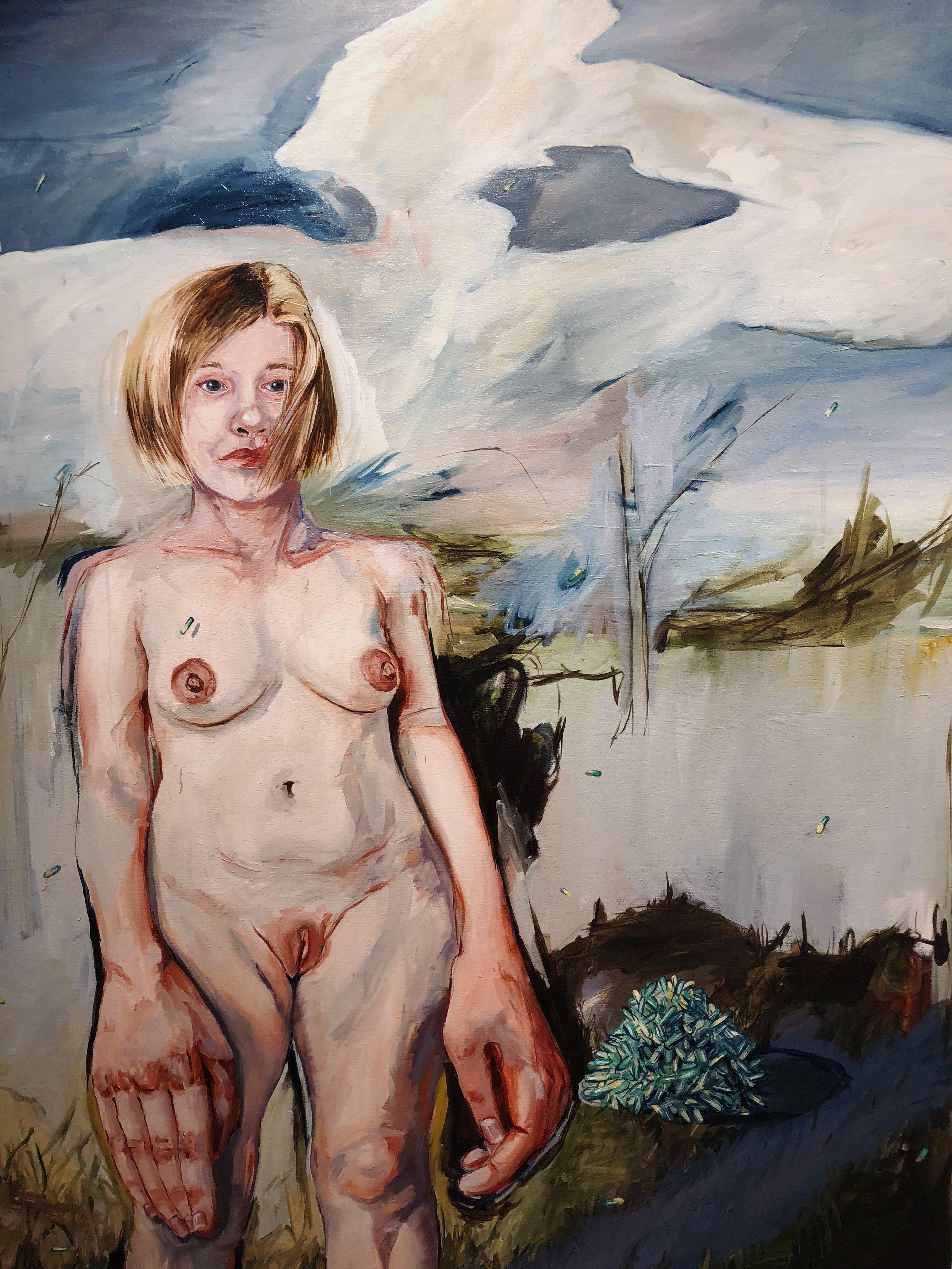 Sharon VanStarkenburg, painting on panel