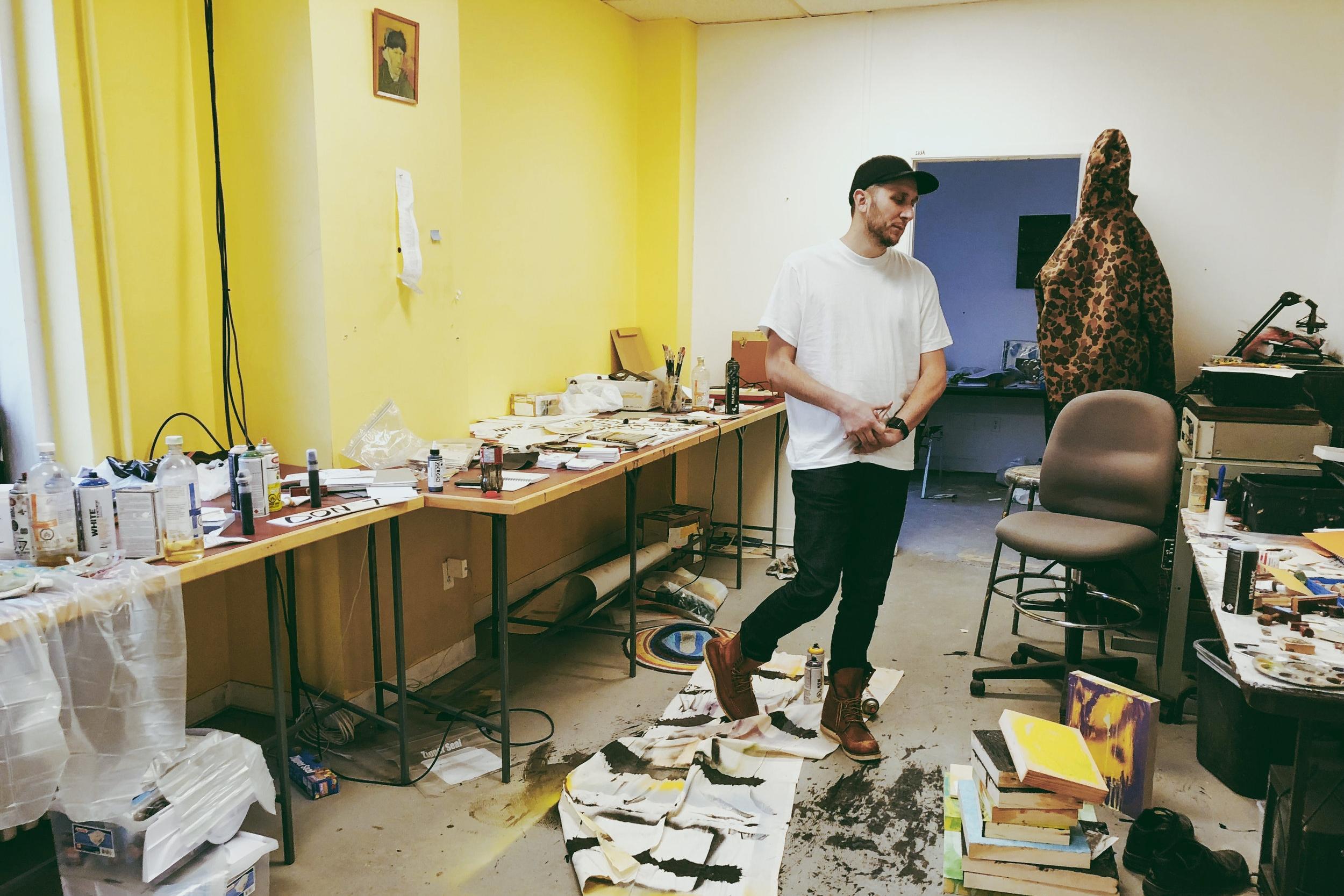 Pierre Richardson in his Second Year studio