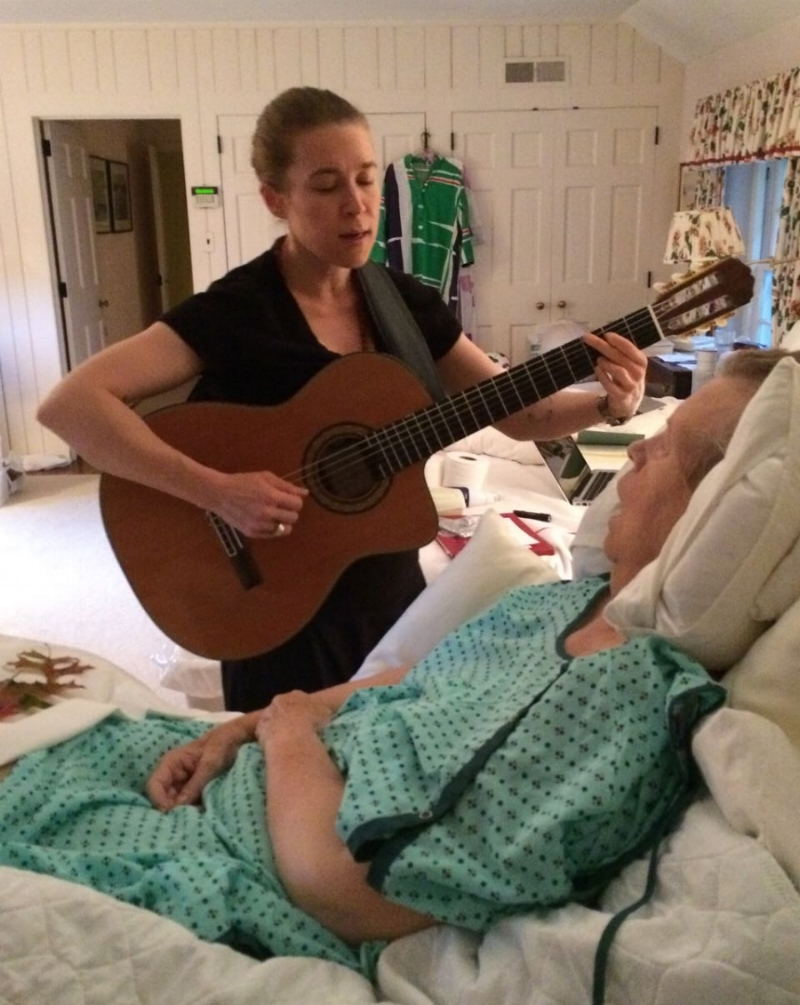 Singing and playing for Mom two days before she died ...