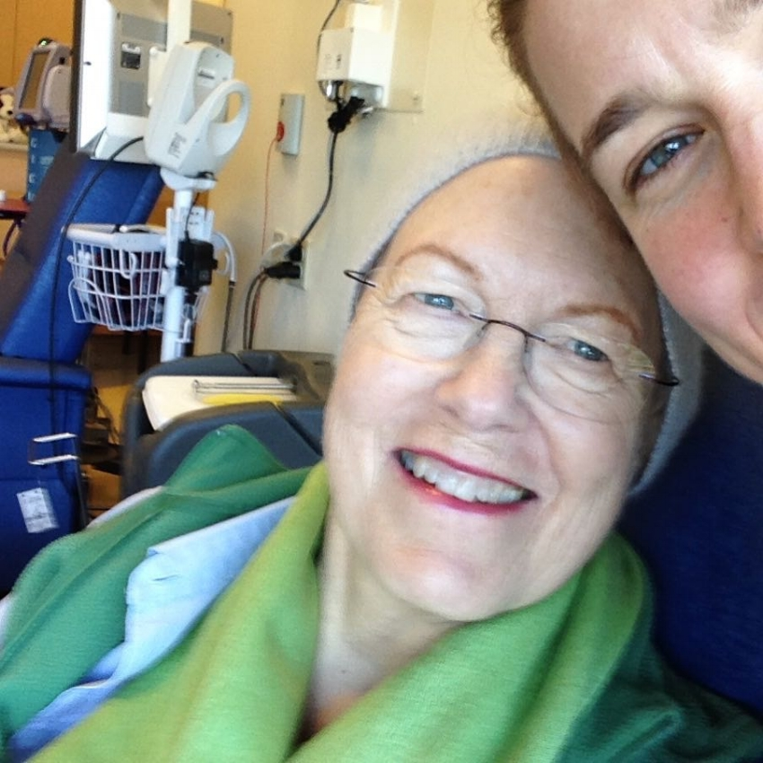 Selfies make the time in the chemo suite go by more quickly ...
