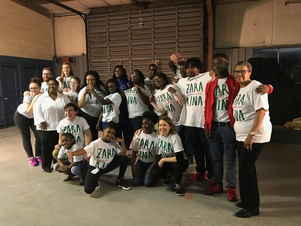 The BAMA Kids student leaders & ZARA AINA at the Community Jam
