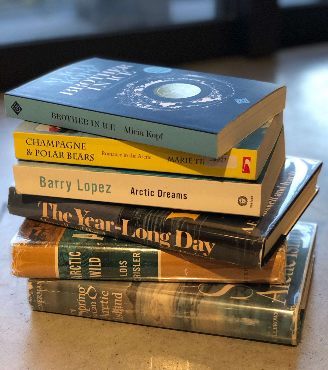 A swarm of books about the Arctic