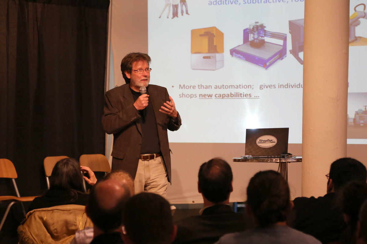 ShopBot's Ted Hall delivers a keynote.