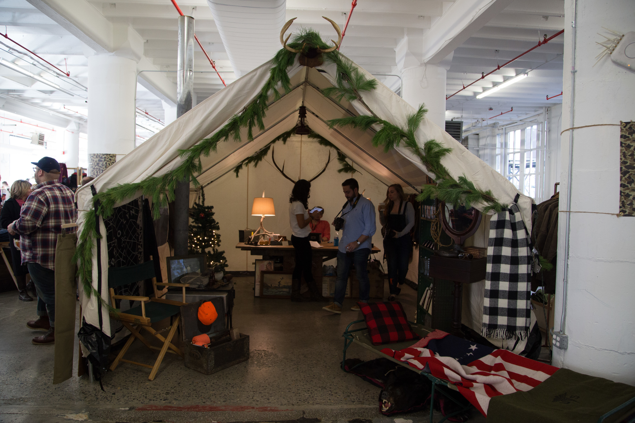 The Ball and Buck tent.