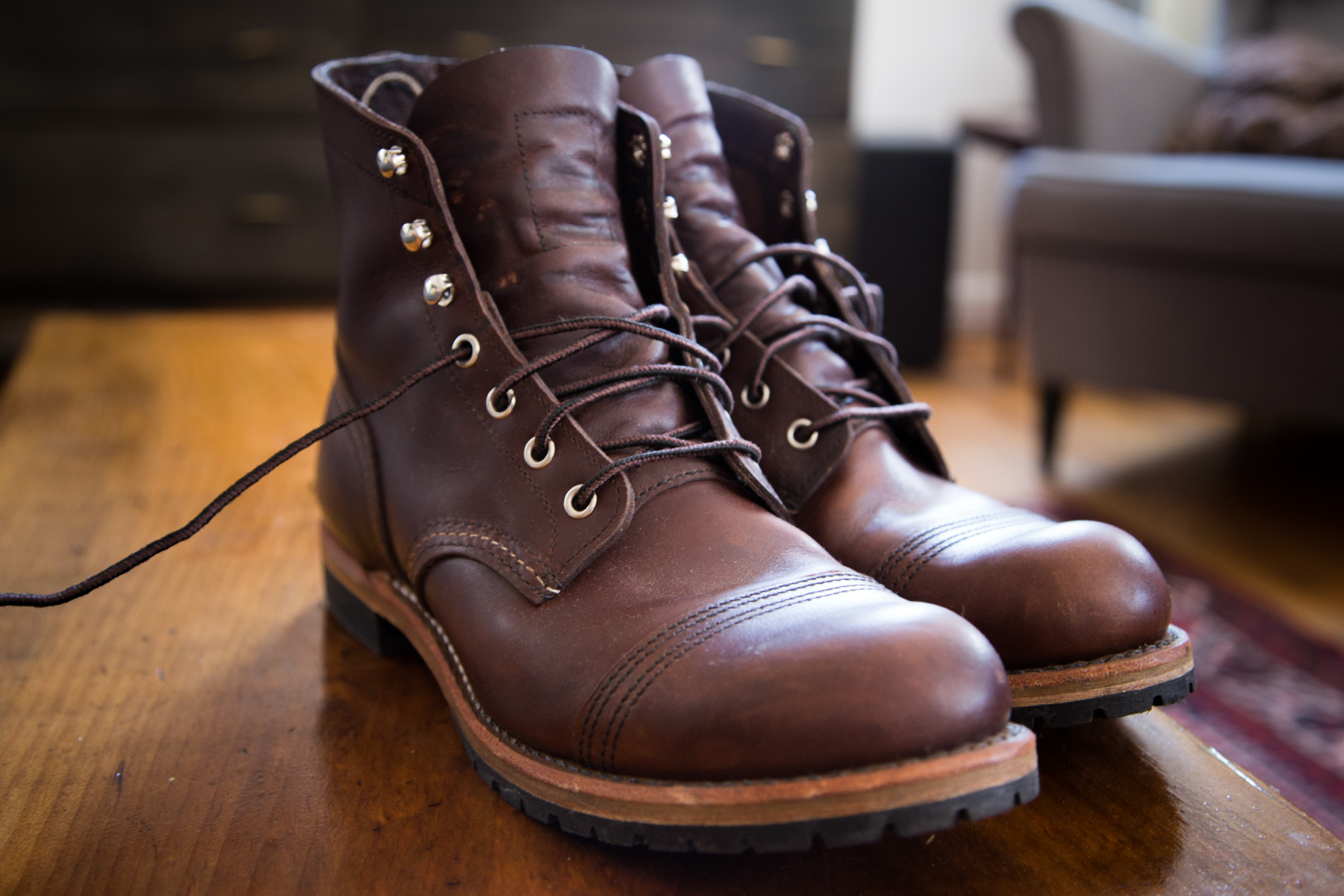 The new Red Wing Iron Rangers with Beckman soles.