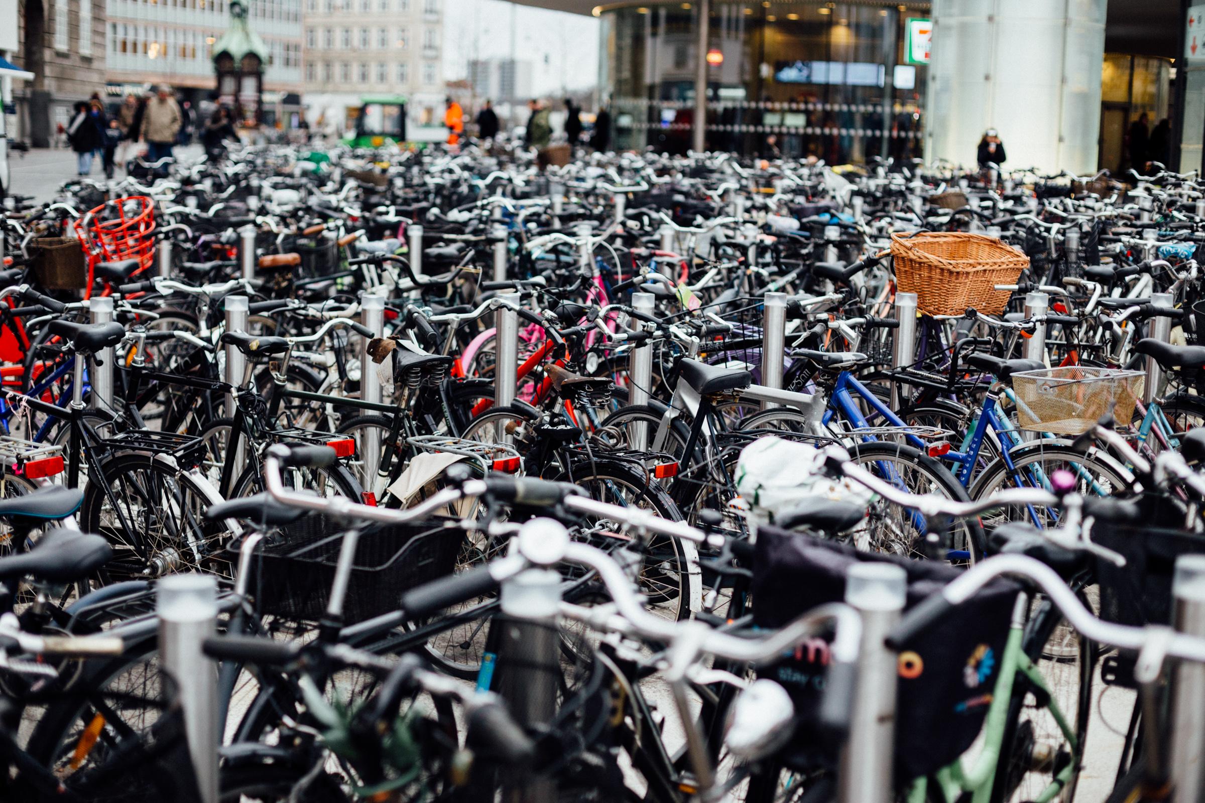 December bike parking in Copenhagen