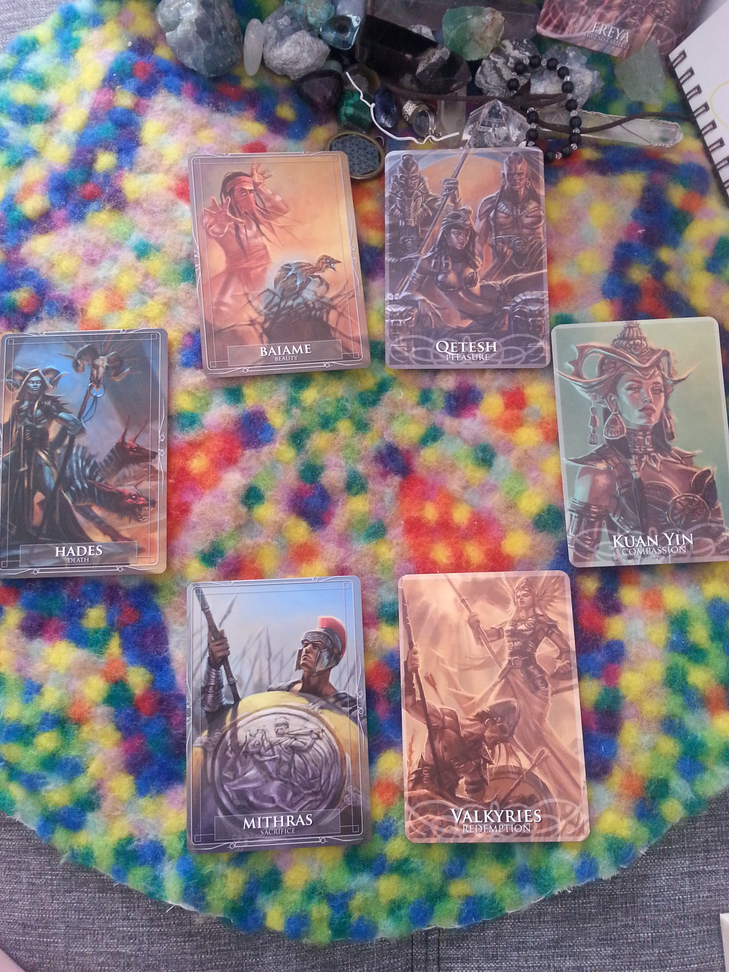 Reading for 2014 the year of Horse/Unicorn Gods & Titans Oracle + Goddesses & Sirens Oracle by Stacey Demarco