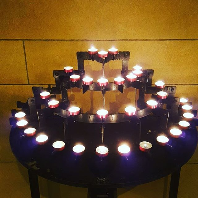 The beauty of stillness, calmness and omnipresence. #canstareatitalldaylong  #stmarycatherdalsydney #ilovecandles #lightofcalmness