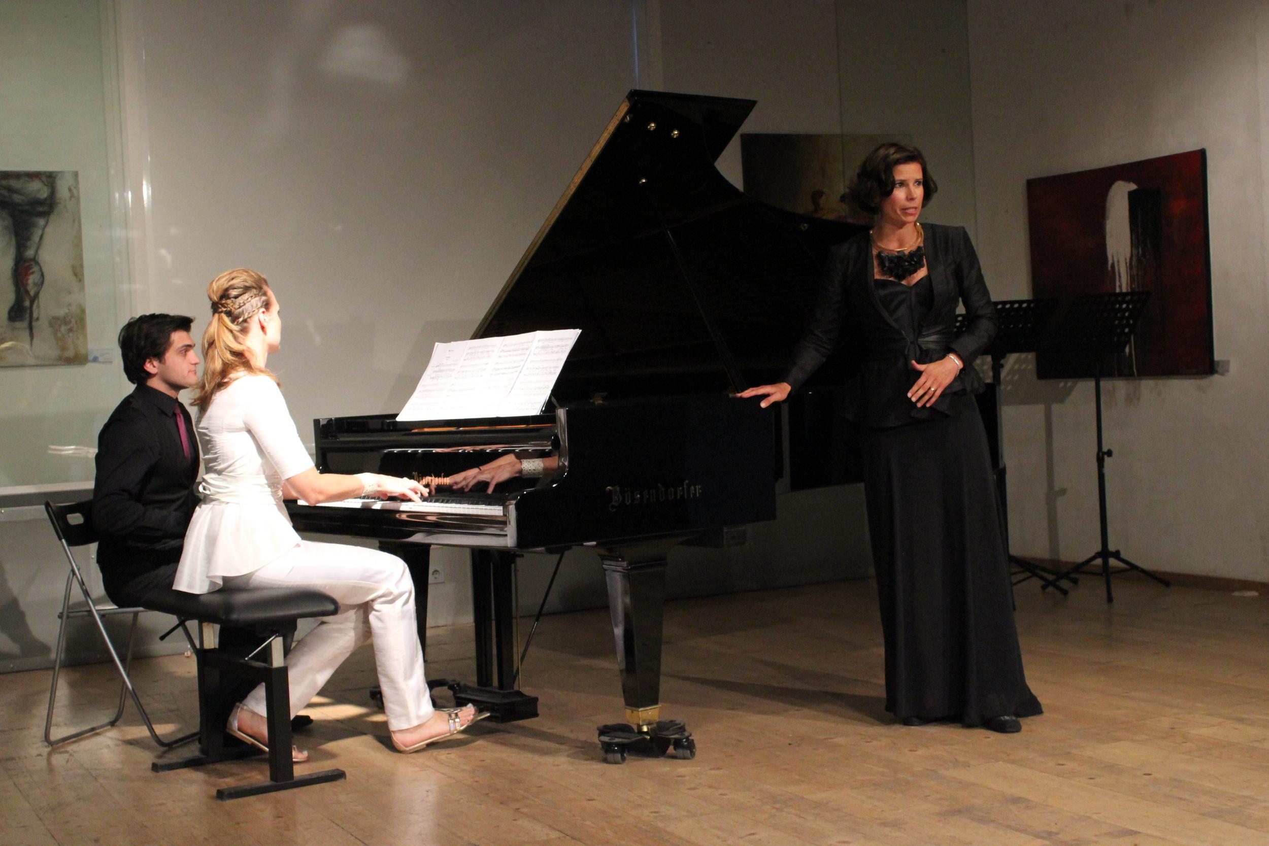 Chanda VanderHart and Julia Koci in Tiberius