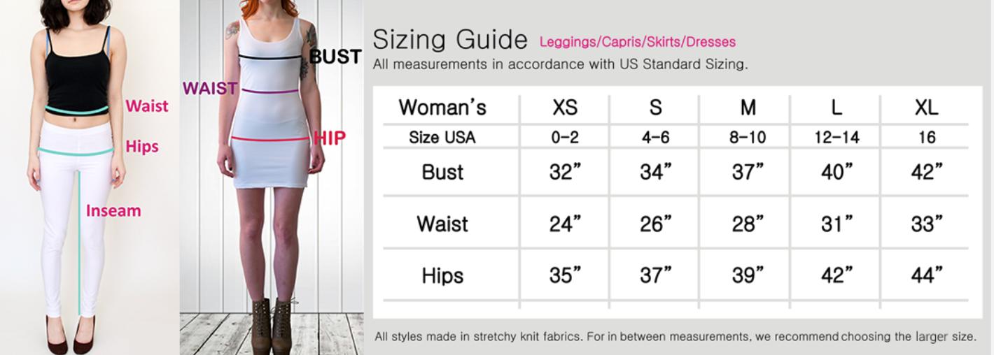 Skirt Sizing Measurements
