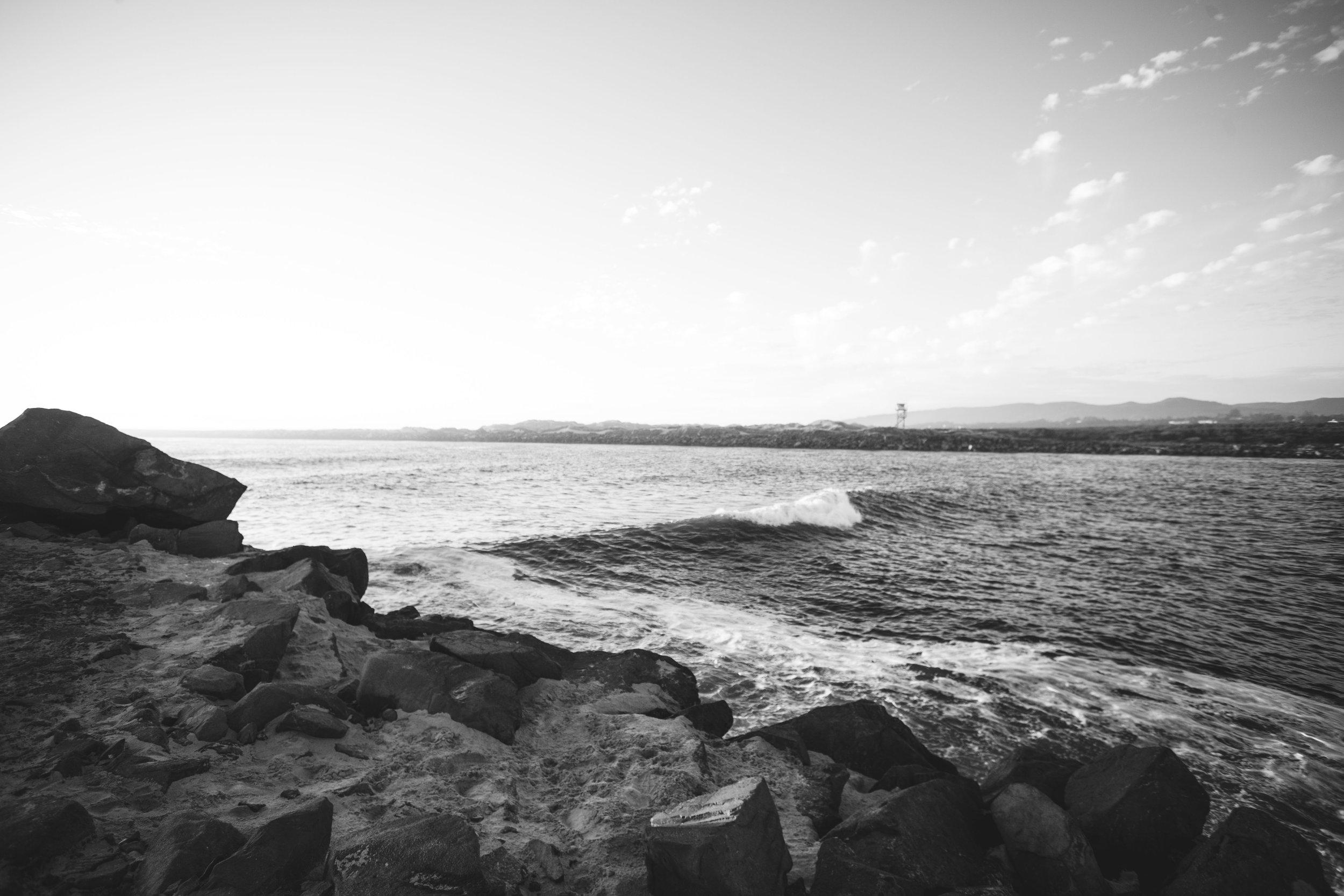 Black and White Ocean