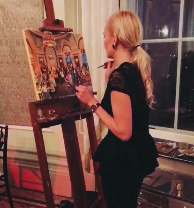 Live Painting Event in Edmonton's Fairmont Hotel MacDonald for the Auditor General's Retirement Party
