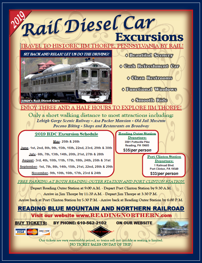 Summer Train Excursions — Reading Blue Mountain & Northern