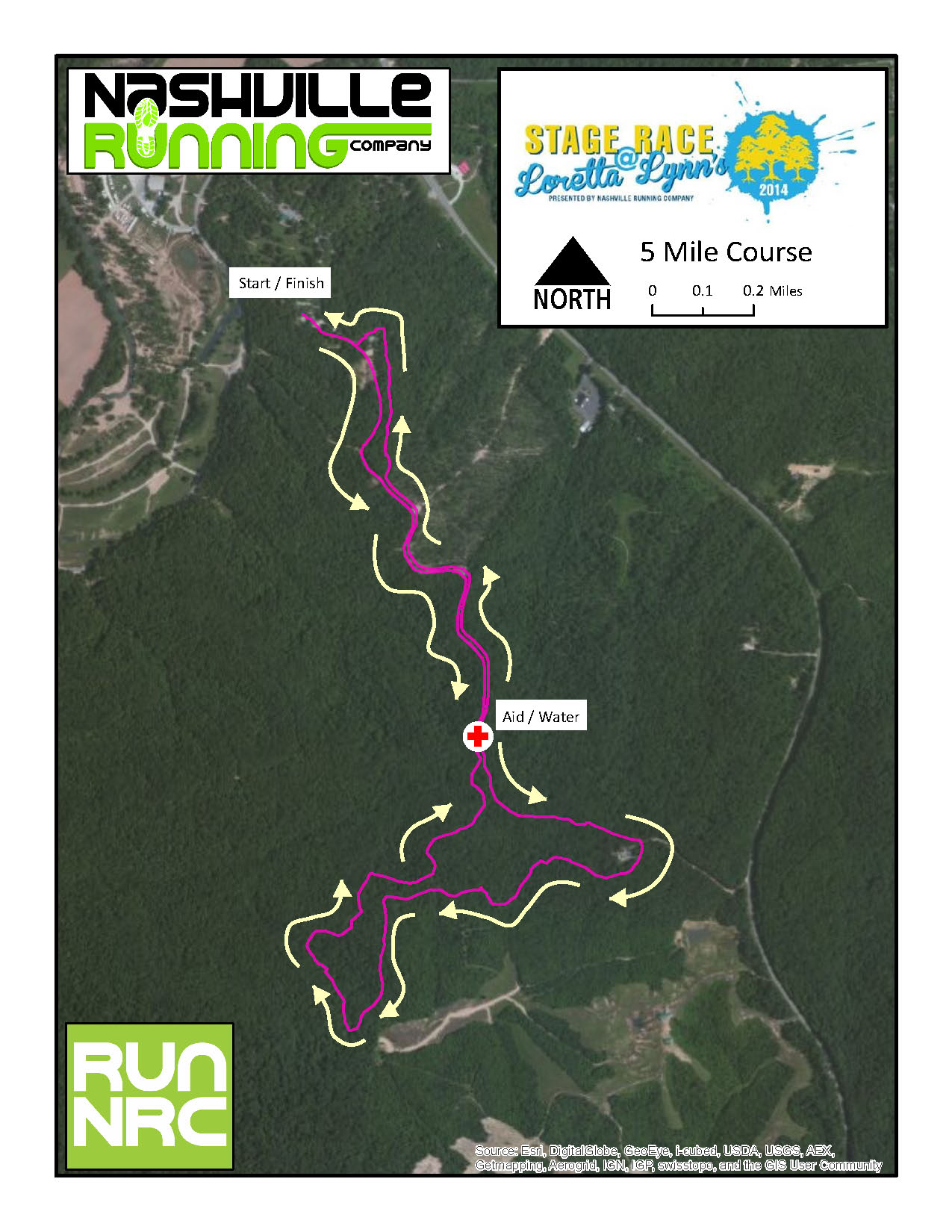 5 Mile Course Map