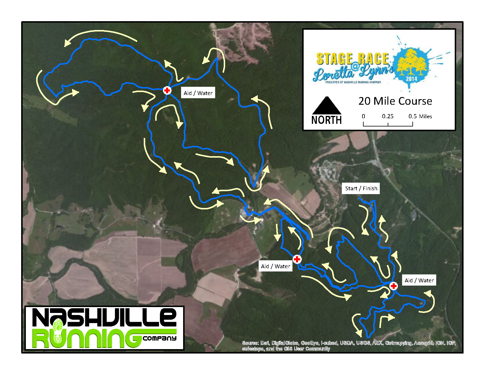 20 Mile Course Map