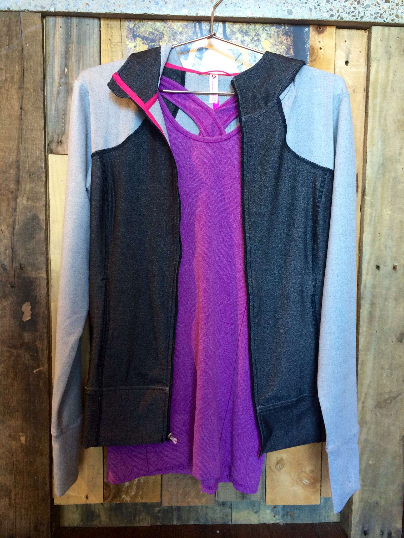 Don't put away your tank tops quite yet! They pair well underneath a full-zip jacket or long sleeve t-shirt.