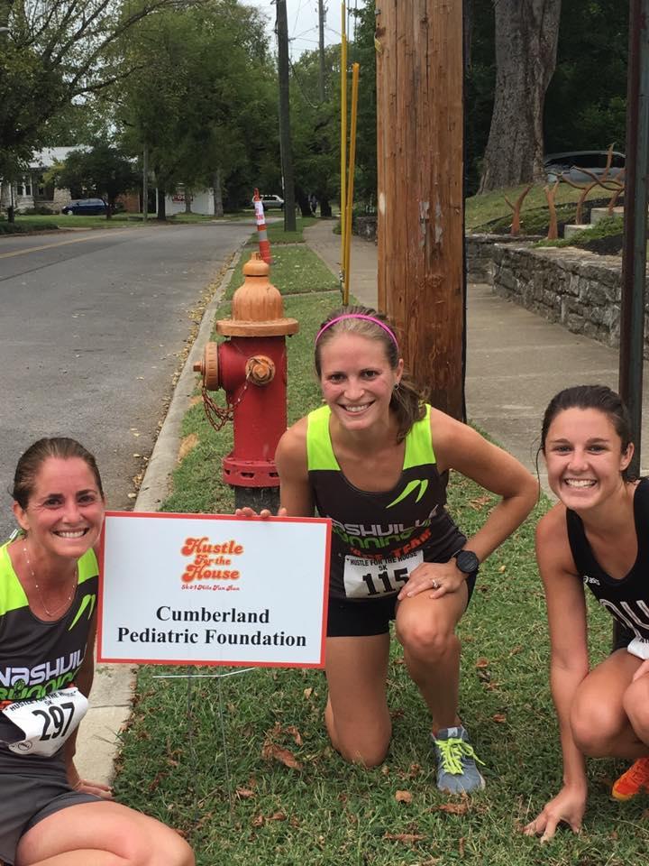 Hannah with NRC Race Team Members, Kris and Caroline