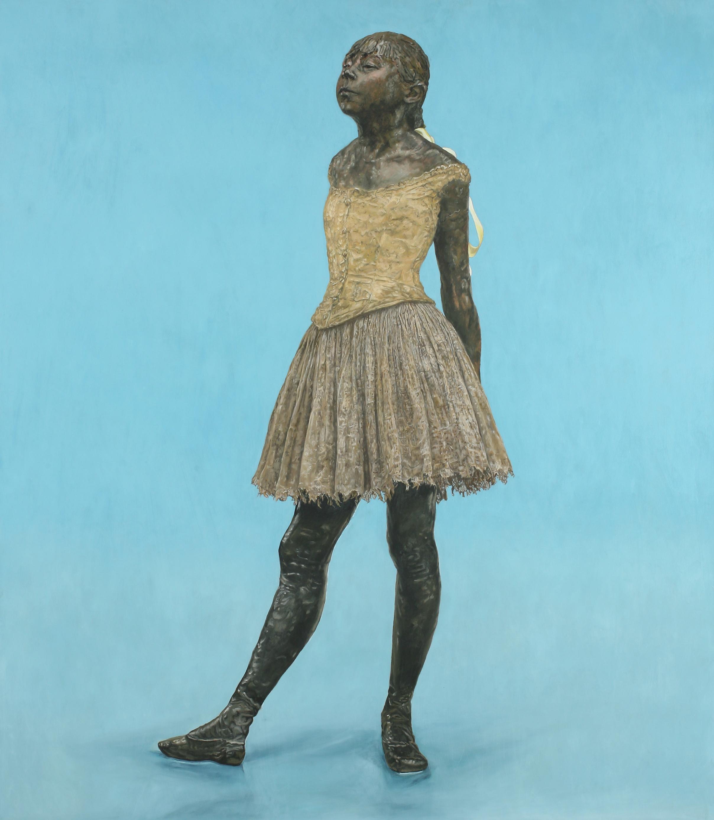 Little Fourteen-Year-Old Dancer on Blue