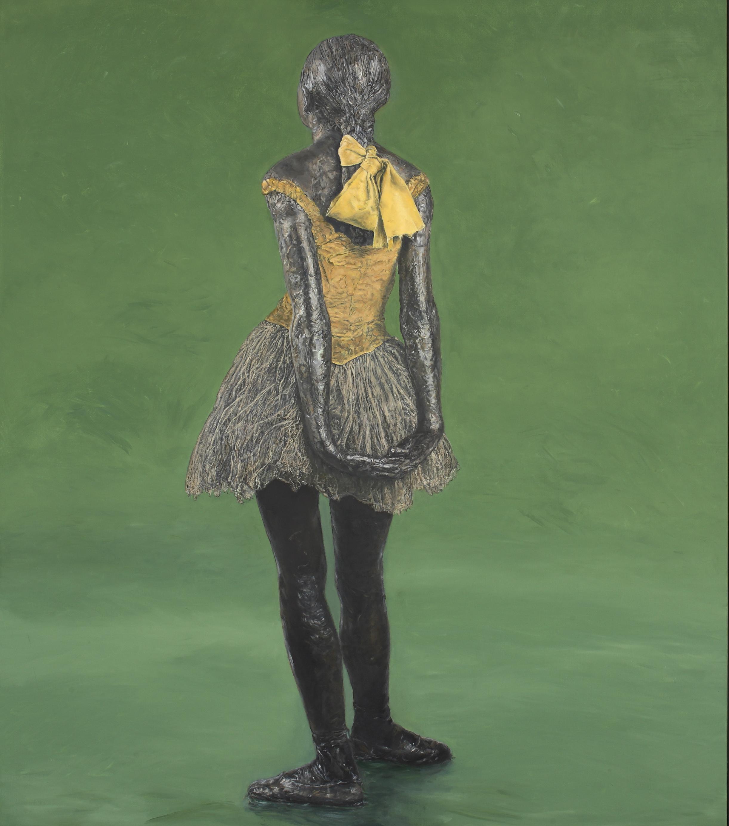 Little Fourteen-Year-Old Dancer on Green