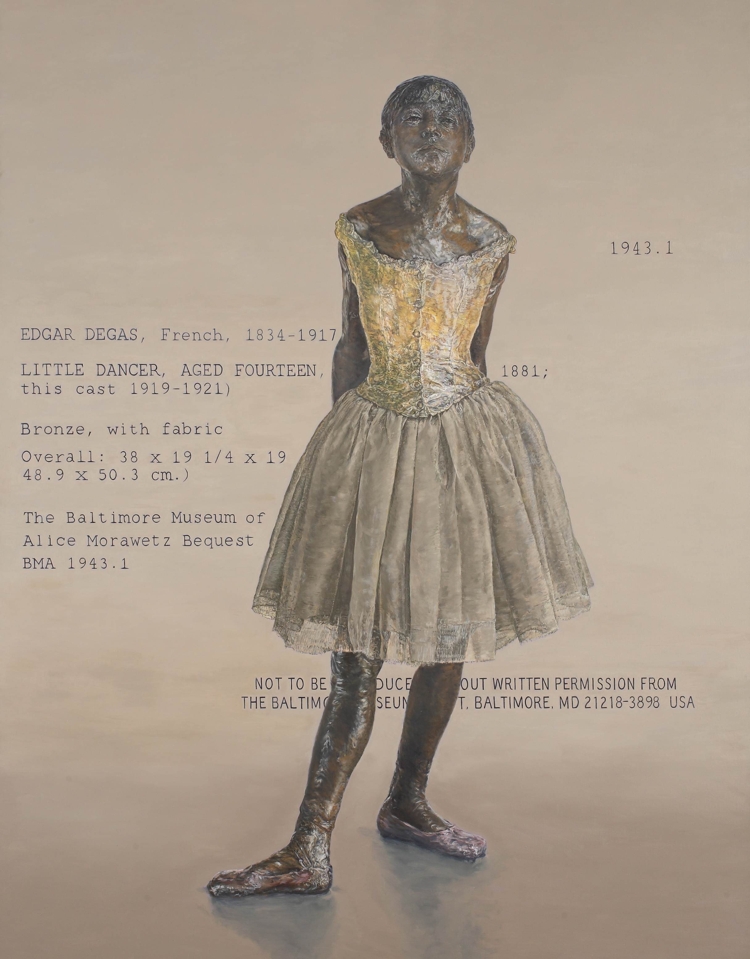 Little Fourteen-Year-Old Dancer with Text