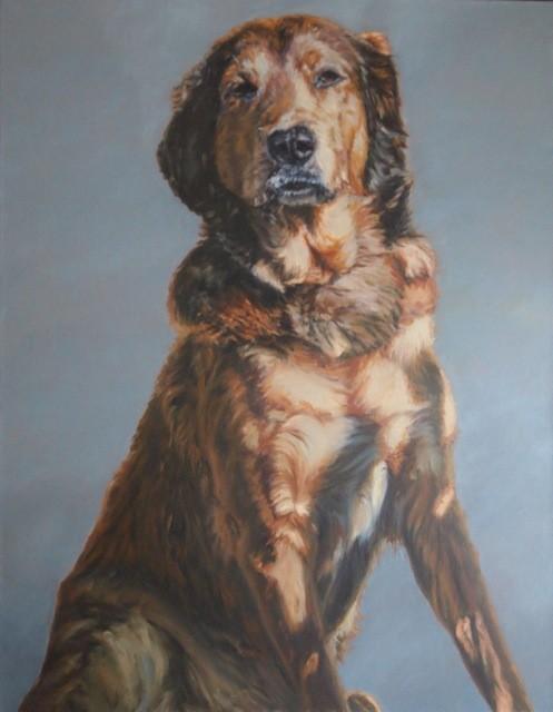 Dog with Fur Ruff