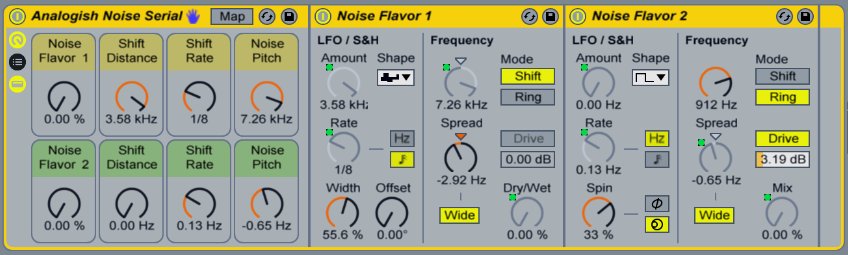 Analog Noise Serial Ableton Live Effect Rack