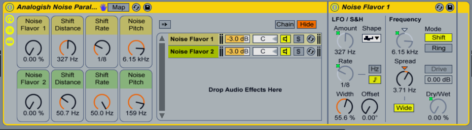 Analog Noise Parallel Ableton Live Effect Rack