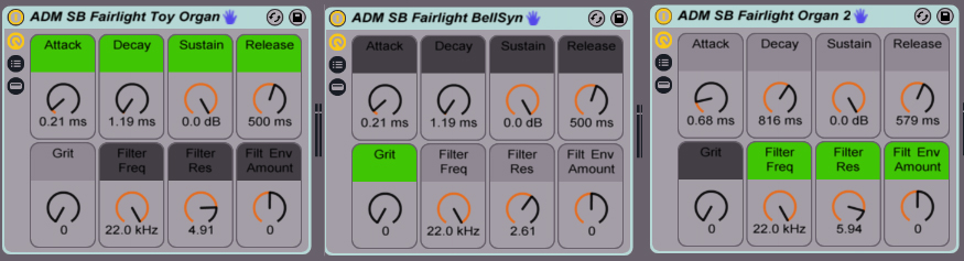 3 Fairlight Instrument Racks from AfroDJMac and SonicBloom