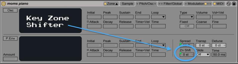 ableton sampler key zone shift afrodjmac