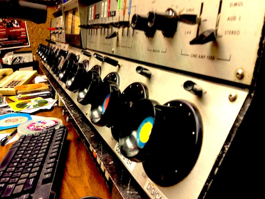 Some giant old school knobs from the control room!