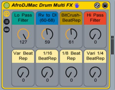 ableton live drum fx afrodjmac