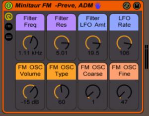 Moog Minitaur Ableton Rack