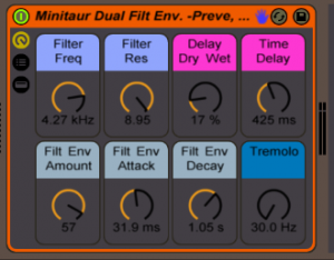 Moog Minitaur Ableton Live Rack
