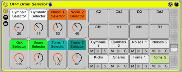 OP-1 Drum Selector
