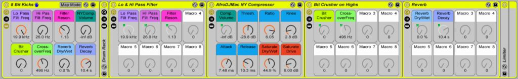 8 Bit Kick Drum Rack