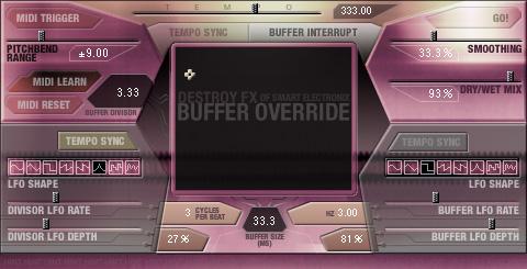 Destroy FX's Buffer Override
