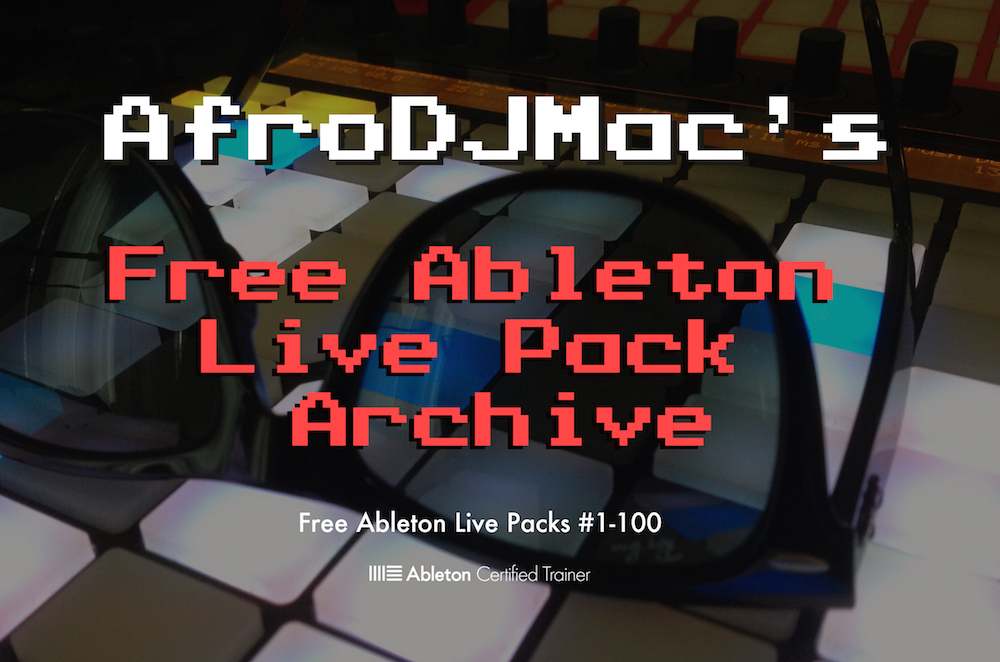 The 1st 100 Free Ableton Live Packs in 1 convenient download: Free to all members of the ADM MPC!