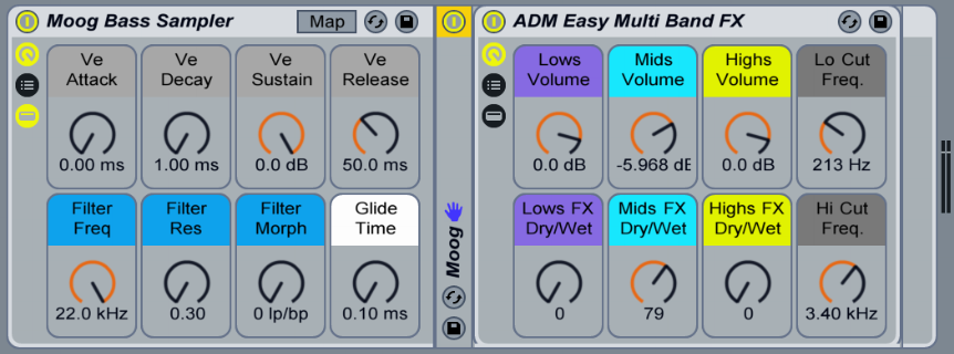Huge bass sounds and the ability to customize the sound to your tracks
