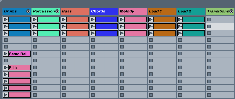 Using only 8 Primary tracks helps keep things organized and consistent with many popular controllers.