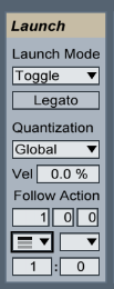 Follow Action Settings for Drum Fills.