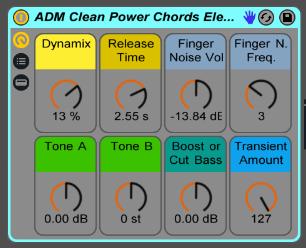 Clean Electric Guitar Power Chords